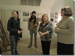 С Галиной Кравченко и художниками из Англии и Германии